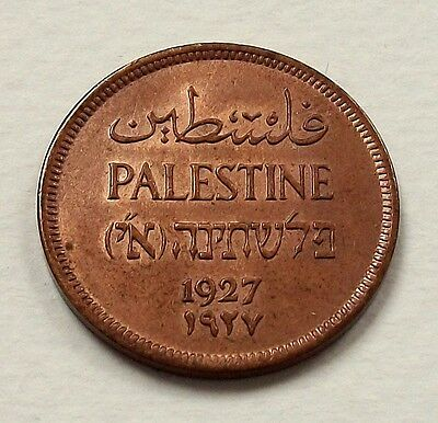 Scarce Palestine 1927 1 Mil Coin - Nice Uncirculated Coin @ No Reserve