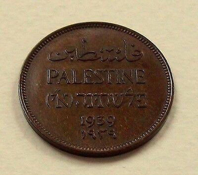 Scarce Palestine 1939 1 Mil Coin - Nice High Grade Coin @ No Reserve