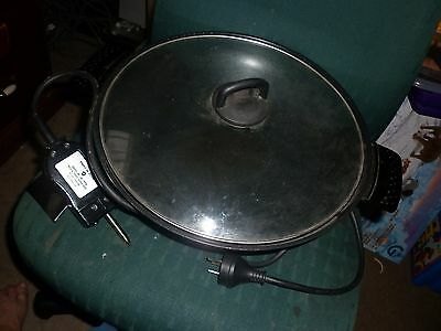 ELECTRIC WOK - can post - LID & CORD - BRAND IS RONSON