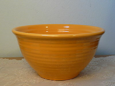 Vintage Bauer Pottery USA Ring Ware Mixing Bowl #12 Yellow