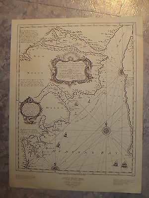 1794 MAP CHART HUDSON BAY Chestfield Inlet, Wager's Bay Soundings