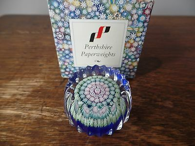 Vintage Perthshire Glass Scotland Miniature Millefiori Paperweight Pp75 Boxed