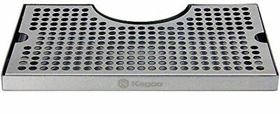 Beer Drip Kegs Kegging Tray Stainless Surface Mount 3quot; Column Cut-Out w/