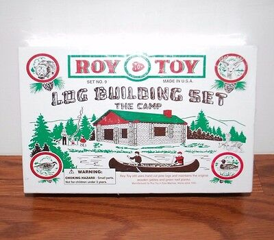 (New Sealed) Roy Toy Log Building Set The Camp Set No. 9 Pine Logs