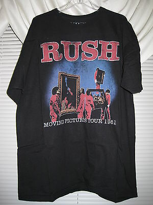 RUSH Moving Pictures Tour XXL Shirt Kansas Styx Grateful Dead AC/DC Bad Company