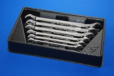 Snap-On 6 Piece Double End Metric Flare Nut Wrench Set RXFMS606B NEW SHIPS FREE