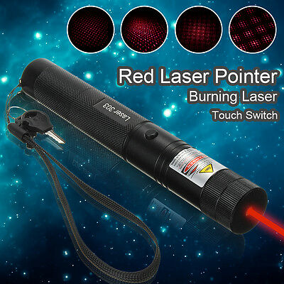 650nm 1mW Red Laser Pointer Light Pen High Power Beam +  Hand Strap New