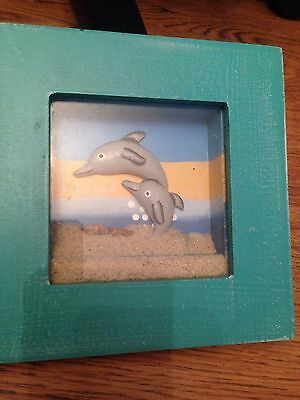Dolphin picture shadowbox