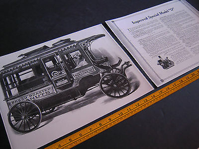 "Antique Cretors Popcorn Wagon 2 Print Set - Improved Special Model ""D"""
