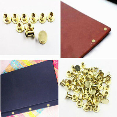10PCS gold Binding Chicago Screws Nail Rivets Photo Album Leather Craft 5x6mm