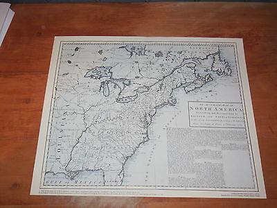 1755 MAP North America by Robert Sayer after the 7 year War, Treaty Articles