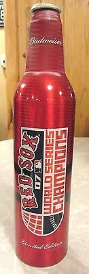 2007 Budweiser MLB Red Sox World Champions Aluminum Bottle Beer Can #501290