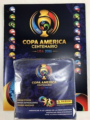 soccer 2016 Copa America CENTENARIO Panini sealed Box 50 packs 350 stickers BOOK