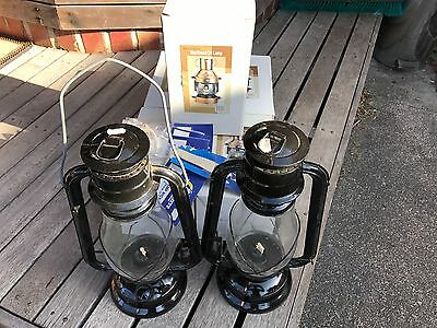 Bulk 7 X Antique Vintage Style Masthead Oil Lanterns Plus Spare Wicks