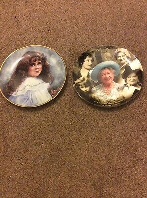 2 commerative Queen Mother plates