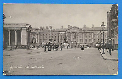 Dublin.college Green.tucks Silverette Postcard Posted 1905