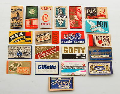 20 lovely old Razor Blade wrappers.... # 12