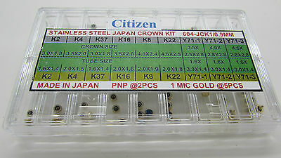 Citizen Watch Crowns Assortment Steel And Yellow Total 63 Pcs Free Postage