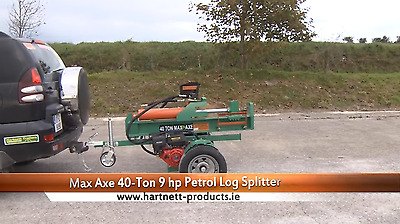 40Ton Petrol Log Splitter with High Speed Undercarriage