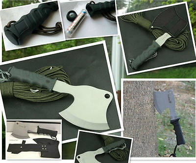 Multi Functional Survival Axe-Hunting-Camping-Tactical-Fire Axe Hand Tool-K66