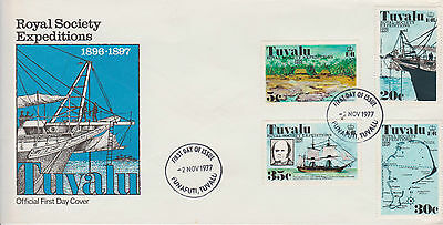 Tuvalu 1977 Royal Society Expeditions First Day Cover