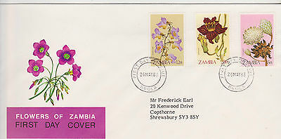 Zambia 1983 Flowers Of Zambia First Day Cover