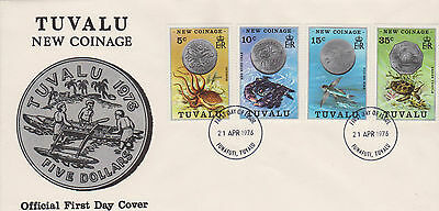 Tuvalu 1976 New Coinage First Day Cover