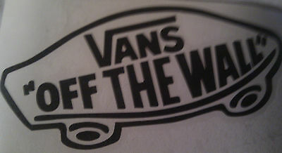 Vans off the wall surfboard surfing vinyl sticker, graphic, decal 150mm black