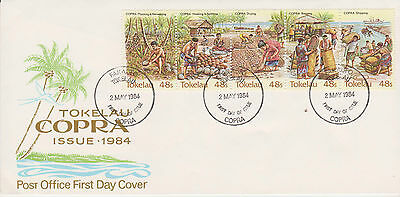 Tokelau 1984 Copra Industry First Day Cover