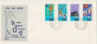 TOKELAU 1972 25th ANNIVERSARY OF SOUTH PACIFIC COMMISSION FIRST DAY COVER