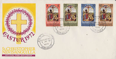 St Kitts And Nevis 1972 Easter First Day Cover