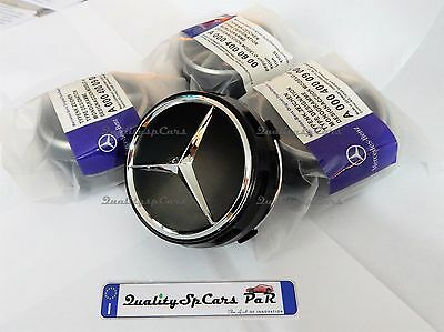 4 TAPPI COPRIMOZZO AMG ORIGINALI MERCEDES BENZ 75MM WHEELS CAP Classe A B C E CL