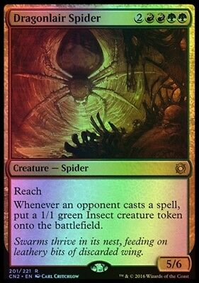 MTG FOIL Dragonlair Spider [English, FOIL, Conspiracy: Take the Crown, Free P&P]