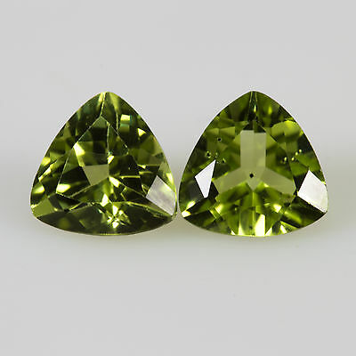 1.54 tcw Pair of Peridots Oval cut ~6.0x6.0mm Si1 Natural loose green gemstones