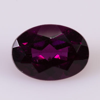 1.18 ct Almandine Garnet Oval cut 7.09x5.14mm Si1 Natural loose purple gemstone