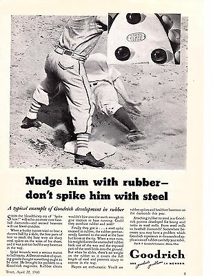 1940 GOODRICH nudge him with rubber dont spike him with steel AD
