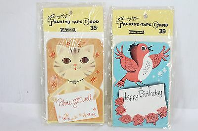Very Rare Vintage Amazing Talking-Tape Card White Wyckoff Bird Cat Antique Old