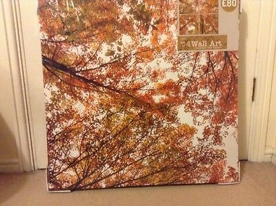 Next Set Of 4 Split Wall Art Photographic Tree Canvases Brand New Never Opened
