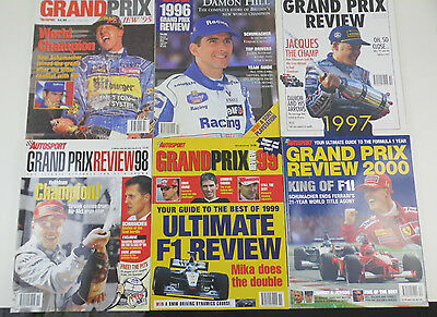 Grand Prix Review Magazine Collection (6 Issues Total)