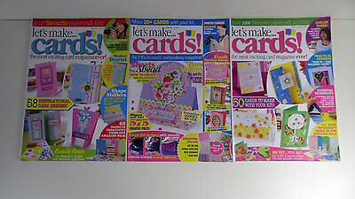 Let's Make Cards Magazine Collection: 3 in Total