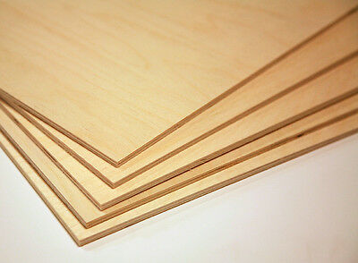 "1/8"" (3mm)  by approx 12"" by approx 18"" Baltic Birch Plywood 20 pieces"