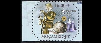 Mozambique  MNH, Radium, Discovered by Marie curie 1898, Nobel Physics -B38