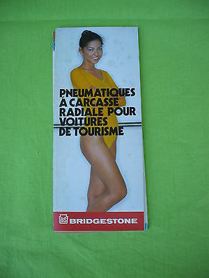 1980's  vintage brigestone tires technical guide manual,pin-up french language