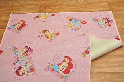 Princess Disney Childrens Girls Boys Bedroom Playroom Carpets Kids Play Rug Pink