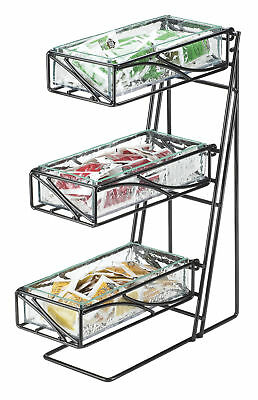 Cal-Mil 3 Tier Faux Glass Cutlery/Condiment