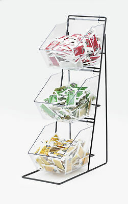 Cal-Mil Iron 3 Tier Wire Holder with Removeable Bins