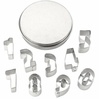 Tala 9 Piece Number-Shaped Cookie Cutters