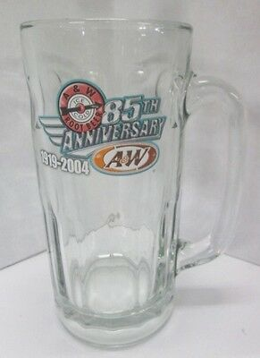 Set Of 2 A&W Root Beer 85th Anniversary 1919-2004 glass mugs