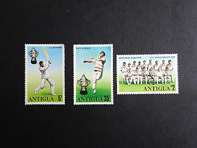 """Antigua 1975 SG466/68 """"World Cup Cricket""""  (Set of 3)  Unmounted Mint"""