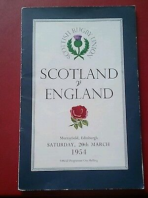 SCOTLAND v ENGLAND 1954 at Murrayfield, Rugby union
